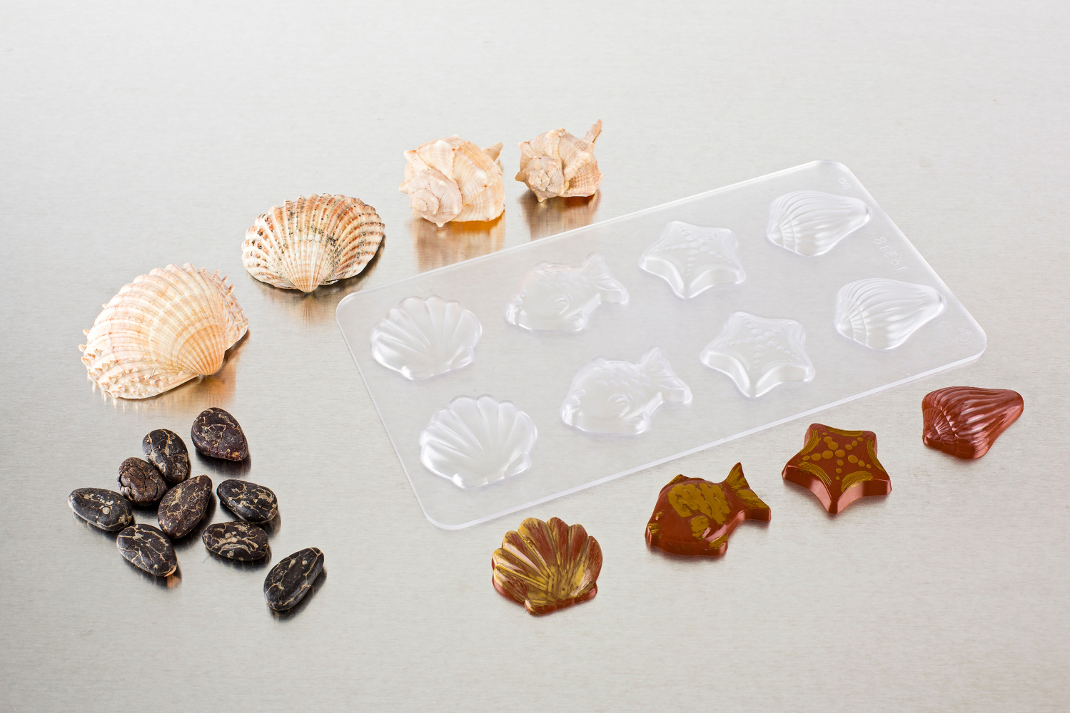 SHELL & FISH CHOCOLATE MOLDS